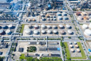petrochemical plant industrial background